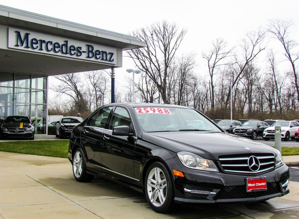 Stock w2537p certified pre owned 2014 mercedes benz c for Mercedes benz c class pre owned