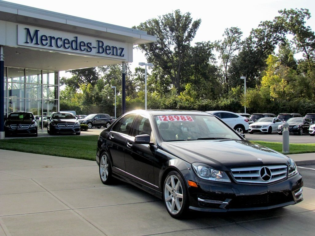 Stock w2354p certified pre owned 2013 mercedes benz c for Mercedes benz c class pre owned